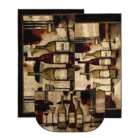 Mohawk New Wave Set Wine And Glasses Brown Beige