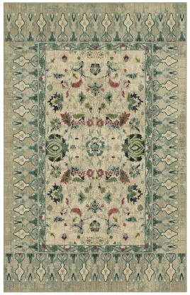 "Karastan Rugs Meraki French Valley Willow Grey by Patina Vie 2'0"" x 3'0"" Scatter"