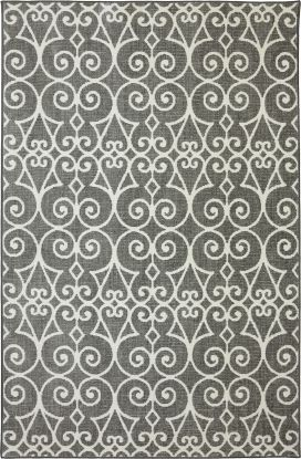 "Karastan Rugs Euphoria Fasney Ash Grey Cream 3'6"" x 5'6"""
