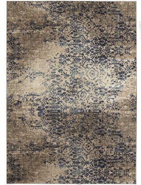 Karastan Rugs Cosmopolitan Nirvana Indigo by Virginia Langley Mushroom