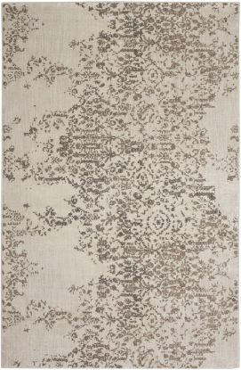 Karastan Rugs Cosmopolitan Nirvana Smokey Grey by Virginia Langley Antique White