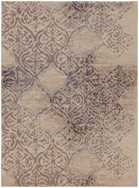 Karastan Rugs Cosmopolitan Zendaya Indigo by Virginia Langley Antique White