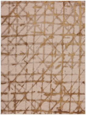 Karastan Rugs Enigma Contact Brushed Gold Antique White