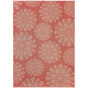 "Mohawk Oasis Contemporary Coral 10'6"" x 14'0"""