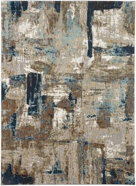 Karastan Rugs Elements Envision Aquamarine Cream