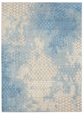 Karastan Rugs Intrigue Mesmerize Aqua Gray