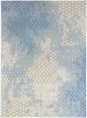 Karastan Rugs Elements Mesmerize Aqua Gray