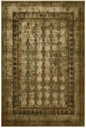 "Karastan Rugs Spice Market Faded Arabesque Gold by Patina Vie Gold 2'0"" x 3'0"" Scatter"