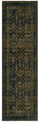 "Karastan Rugs Spice Market Faded Arabesque Sapphire by Patina Vie 2'4"" x 7'10"" Runner"