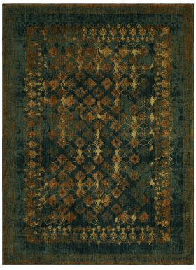 "Karastan Rugs Spice Market Faded Arabesque Sapphire by Patina Vie 2'4"" x 7'10"" Runner"