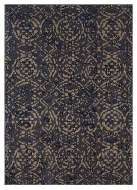 Karastan Rugs Cosmopolitan Block Print Ink Blue by Patina Vie