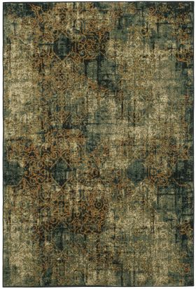 "Karastan Rugs Spice Market Luciano Aquamarine by Virginia Langley 3'5"" x 5'5"""