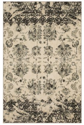 """Karastan Rugs Touchstone Chanteuse Charcoal by Patina Vie 2'0"""" x 3'0"""" Scatter"""