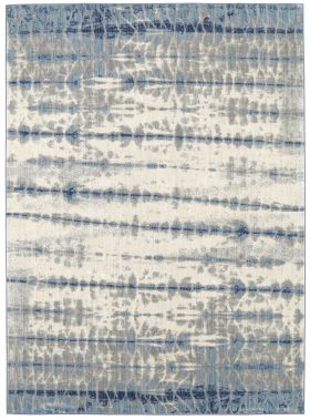 Karastan Rugs Expressions Shibori Stripe Indigo by Scott Living Beige