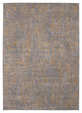 "Karastan Rugs Artisan Equilibrium Smokey Grey by Scott Living Smokey Gray 2'4"" x 7'10"""