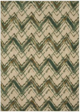 Karastan Rugs Cosmopolitan Trine Emerald Antique White