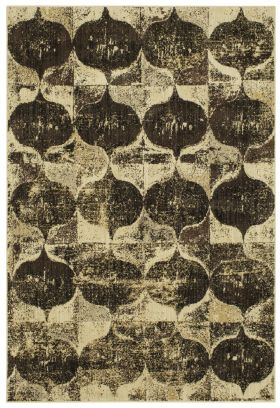 "Karastan Rugs Expressions Iconograph Black by Scott Living 2'0"" x 3'0"" Scatter"
