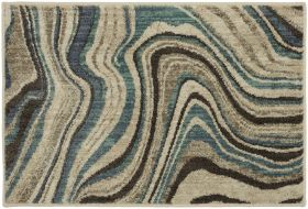 "Karastan Rugs Expressions Sediment Lagoon by Scott Living 2'0"" x 3'0"" Scatter"