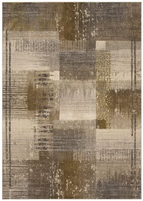 "Karastan Rugs Enigma Abstract Blocks Neutral Smokey Grey 5'3"" x 7'10"""