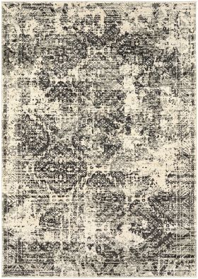 Karastan Rugs Tempest Compass Midnight Natural Cotton
