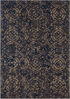 Karastan Rugs Cosmopolitan Block Print Ink Blue