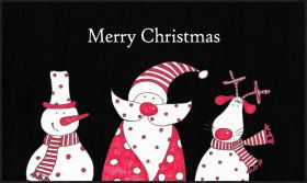 Mohawk Prismatic Christmas Friends Black