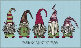 Mohawk Prismatic Christmas Gnomes Light Blue
