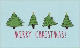 Mohawk Prismatic Christmas Trees Light Blue