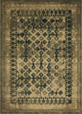"Karastan Rugs Spice Market Faded Arabesque Cream 3'5"" x 5'5"""