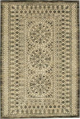 "Karastan Rugs Elements Ingenue Onyx 5'3"" x 7'10"""