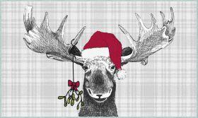 Mohawk Prismatic Holiday Moose Gray