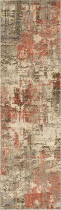 "Karastan Rugs Enigma Igneous Clay 2'4"" x 7'10"" Runner"