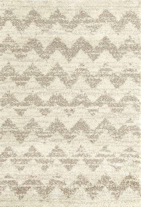 "Karastan Rugs Prima Shag Mimosa Stripe Camel Cream 10'6"" x 13'2"""