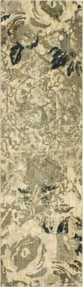"Karastan Rugs Touchstone Romantica Willow Grey 2'4"" x 7'10"" Runner"