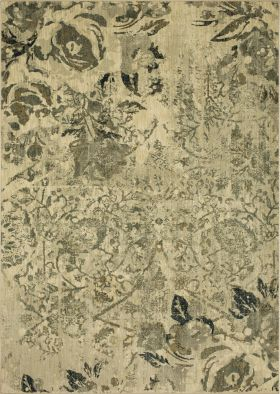 "Karastan Rugs Touchstone Romantica Willow Grey 8'0"" x 11'0"""