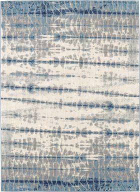 Karastan Rugs Expressions Shibori Stripe Indigo