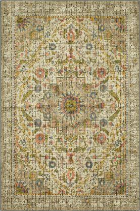 "Karastan Rugs Mosaic Tiber Silver 5'3"" x 7'10"""