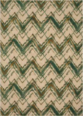 "Karastan Rugs Cosmopolitan Trine Emerald 5'3"" x 7'10"""