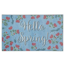 """Mohawk Prismatic Hello Spring Blue 2'6"""" x 4'2"""" Scatter"""