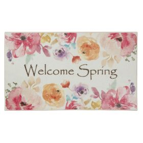 "Mohawk Prismatic Welcome Spring Pink Multi 2'6"" x 4'2"""