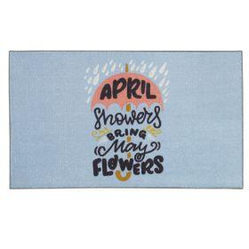 """Mohawk Prismatic April Showers Blue 2'6"""" x 4'2"""" Scatter"""