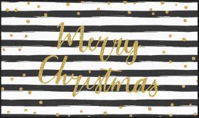 Mohawk Prismatic Christmas Stripe Black/White