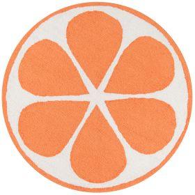 "Novogratz Cucina Cna-1 Orange 3'0"" x 3'0"" Round"
