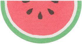 "Novogratz Cucina Cna-3 Watermelon Red 1'6"" x 3'0"" Half Moon"