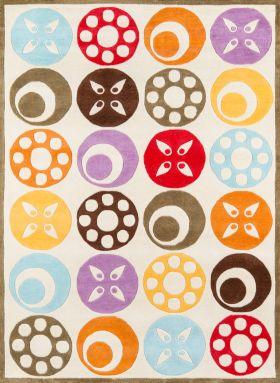 Momeni Lil Mo Whimsy Lmj-5 Contemporary Candy Dots Ivory