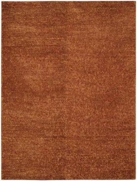 "Nourison Fantasia Shag, Modern/Contemporary, Rust 5'6"" x 7'5"""
