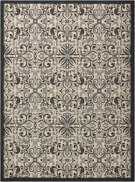 Nourison Caribbean Ivory/Charcoal