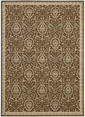 "Nourison Riviera Traditional, Transitional, Chocolate 7'9"" x 10'10"""