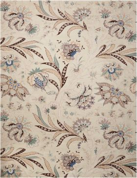 """Nourison Gatsby Floral/Botanical, Traditional, Ivory 8'0"""" x 10'6"""""""