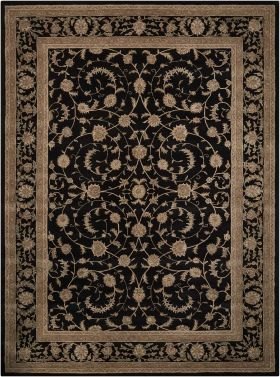 "Nourison Heritage Hall Traditional Black 2'6"" x 4'2"""